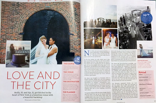 article in weddings magazine